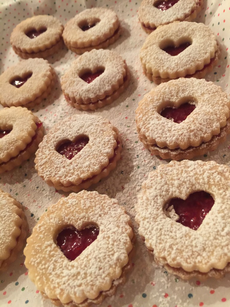 Valentines Afternoon Tea Linzer Cookies