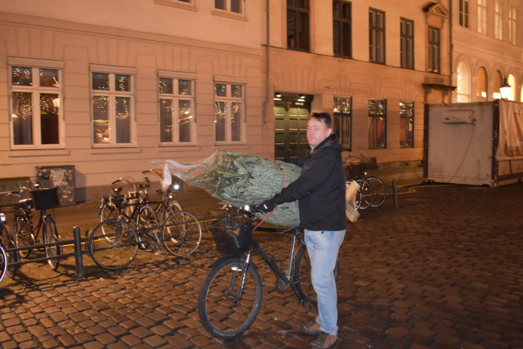 Taking the Christmas Tree home in Copenhagen