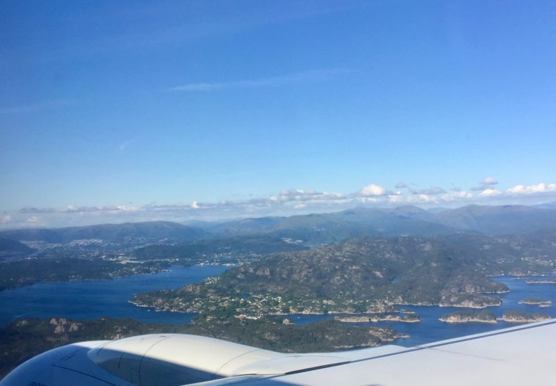 Flying into Bergen, Norway