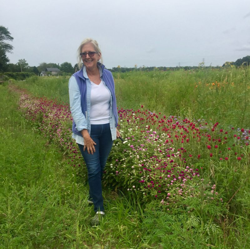Denise at Amber Waves Farm, Amagansett