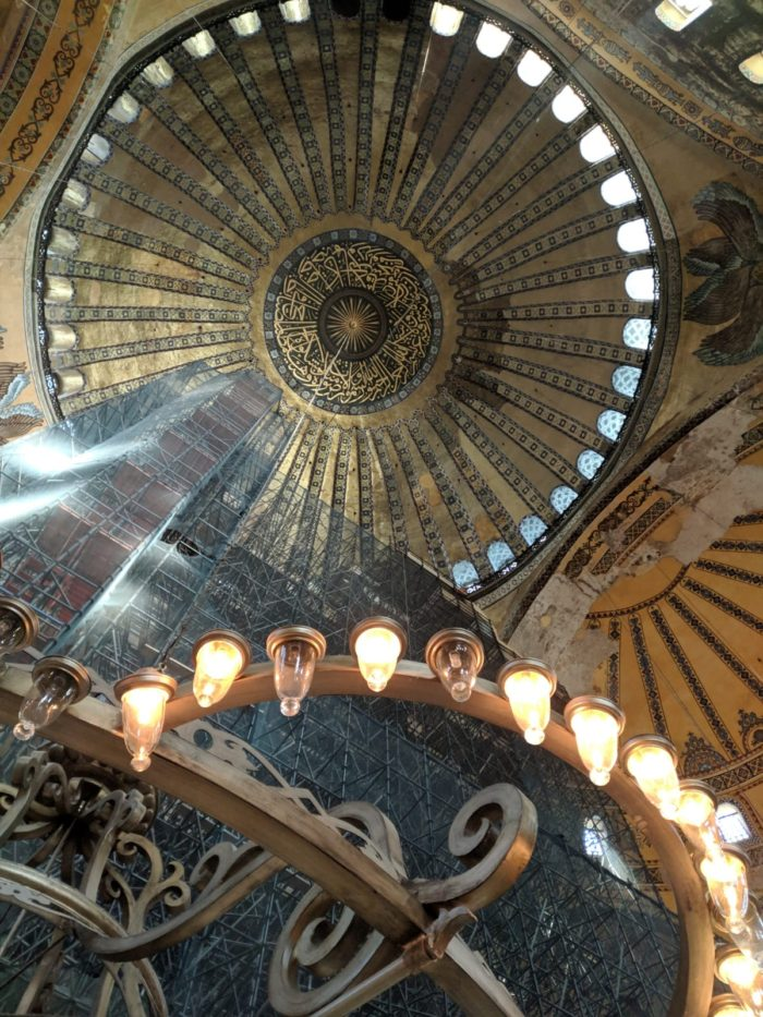 The doomed roof of the Hagia Sophia
